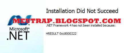 net framework 4.5 1 installation did not succeed