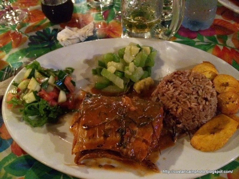 Comida tipica Caribe. Rice and beans