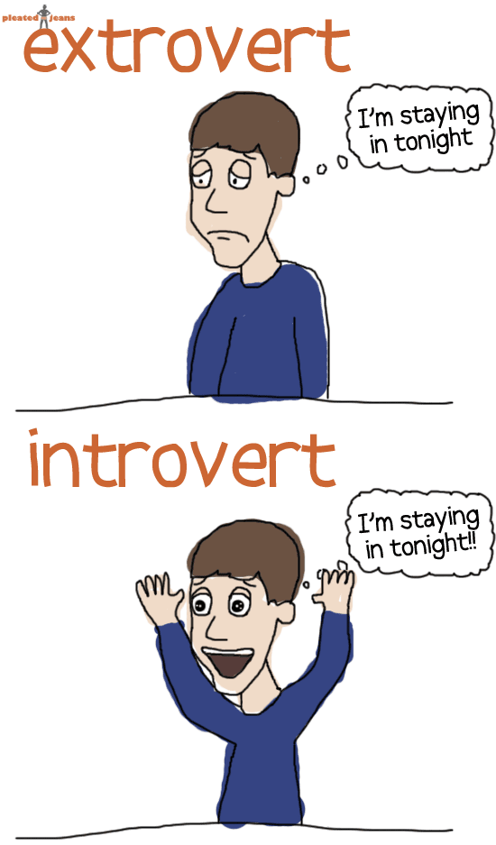 Delightfully ludicrous i 39 m not shy i 39 m not socially for Introvert vs extrovert