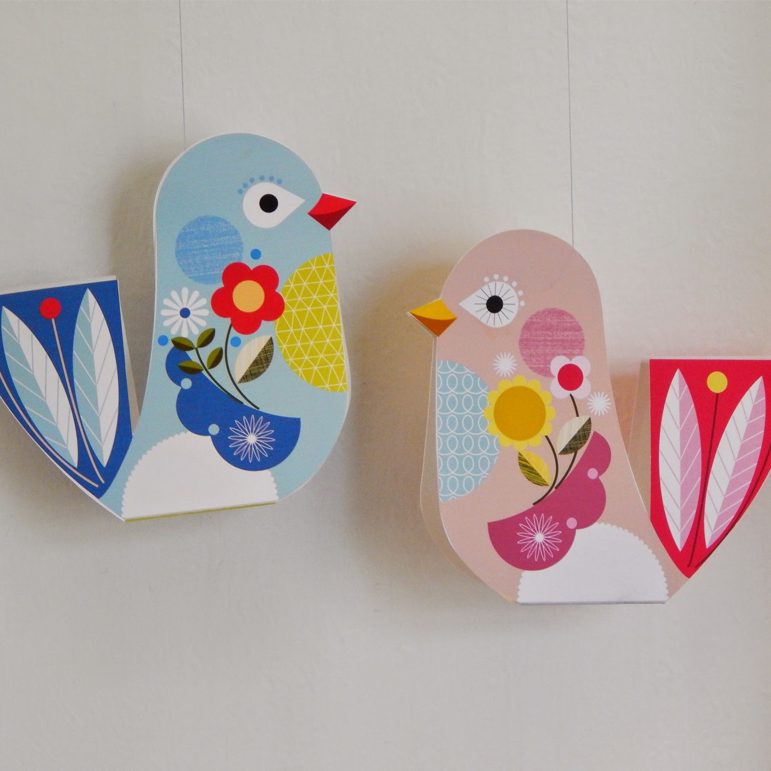 Paper for craft projects - Paper Craft Birds Hanging Ideas Arts And Crafts Projects