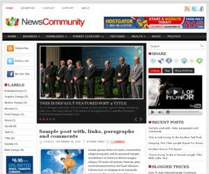 News Community Blogger Template