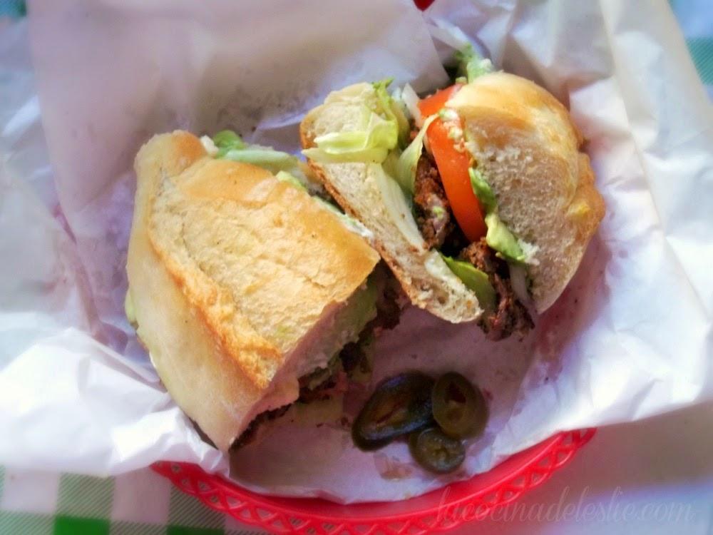Mexican Breaded Steak Sandwich (Torta de Milanesa de Res) - lacocinadeleslie.com
