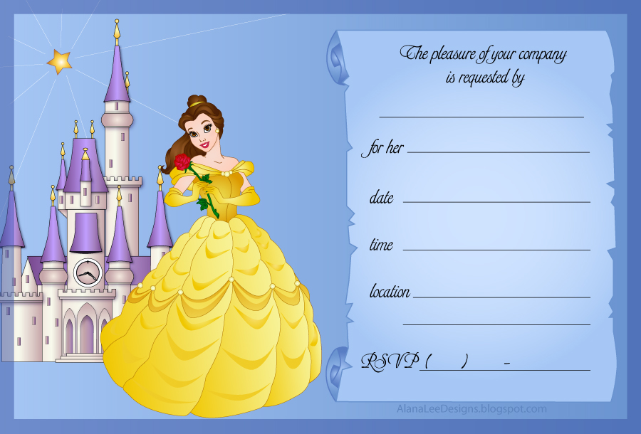 Alana Lee Designs Custom Photo Products with Personality Free – Beauty and the Beast Party Invitations