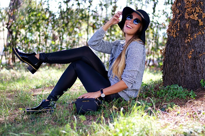 look leggings e stivaletti