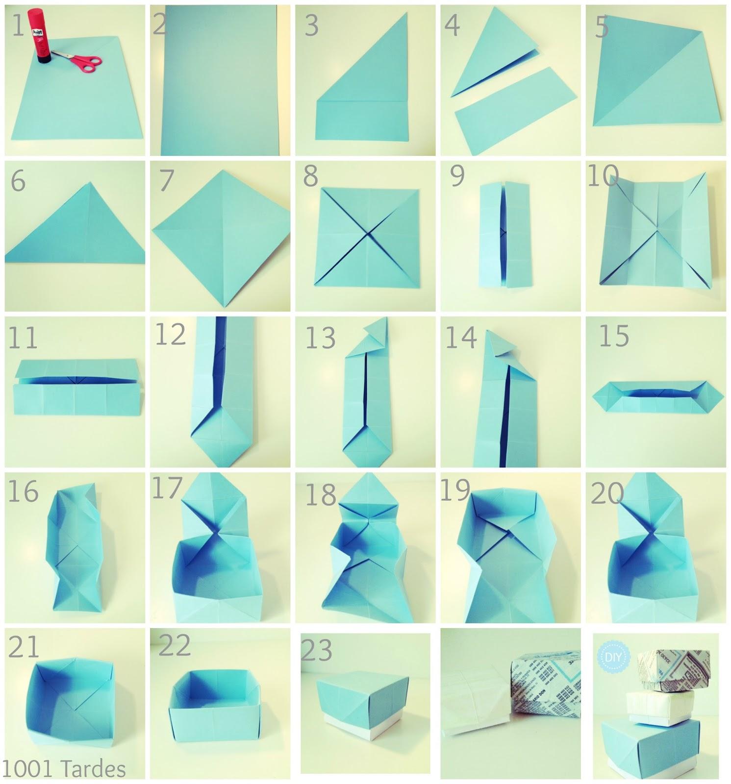 1001 tardes diy hacer cajas con papel - Como hacer cosas de papel paso a paso faciles ...