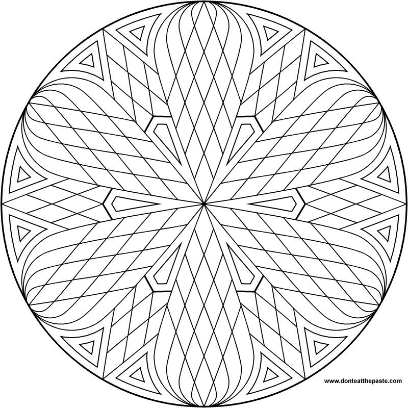A simple mandala to color- also available in transparent PNG format