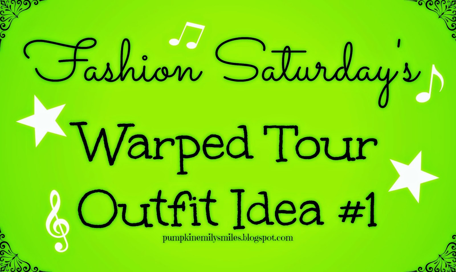 Fashion Saturday's Warped Tour Outfit Idea #1