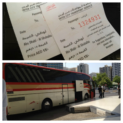Bus going back to Dubai from Abu Dhabi