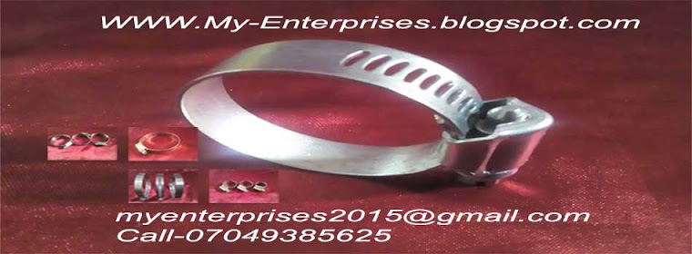 My Enterprises Best supplier of Hose   Clamps, Steel metal Components.
