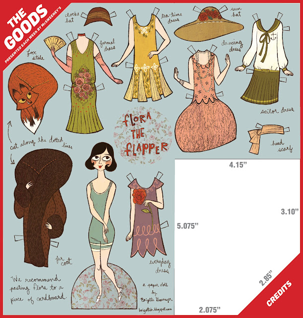 the brigette brigade: flapper paper doll for the goods