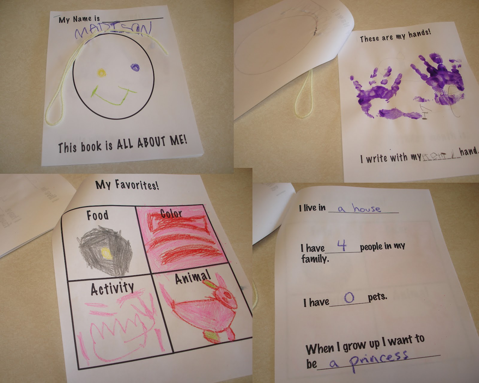 Cute creative and fun preschool all about me my body theme for All about me toddler crafts