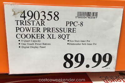 Deal for the Tristar PPC-8 Power Pressure Cooker XL at Costco