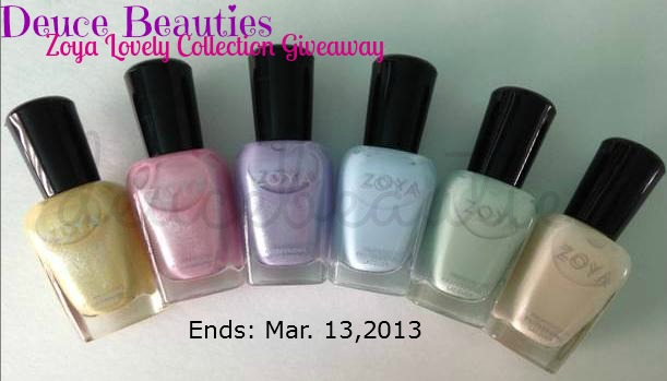 Deuce Beauties Zoya Lovely Collection Giveaway