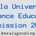 Kerala University Distance Education Admission 2014