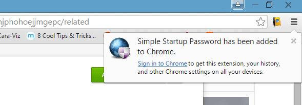 Cara Mudah Memberikan Password Pada Chrome