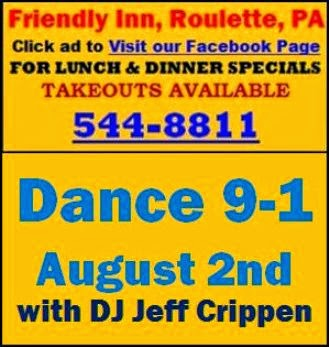 8-2 Dance Saturday At Friendly Inn