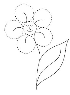figuras geometricas para colorear flor