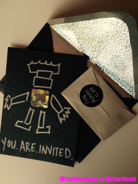 DIY robot invitations
