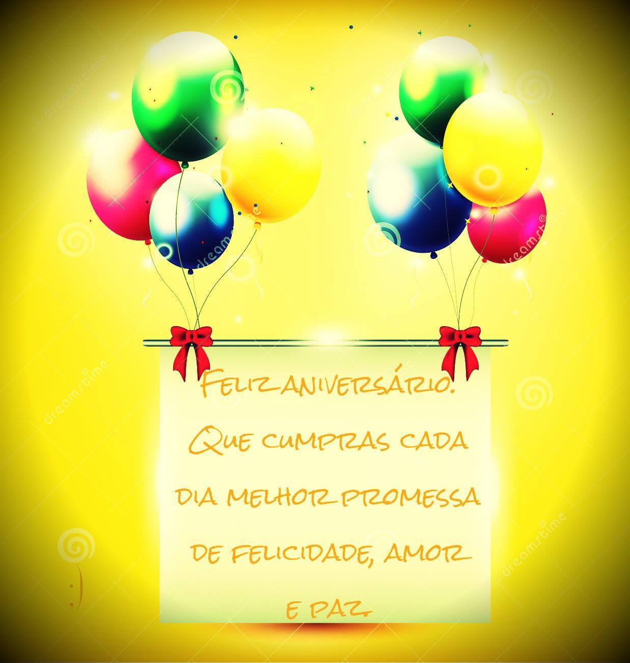 Feliz aniversário amor e paz