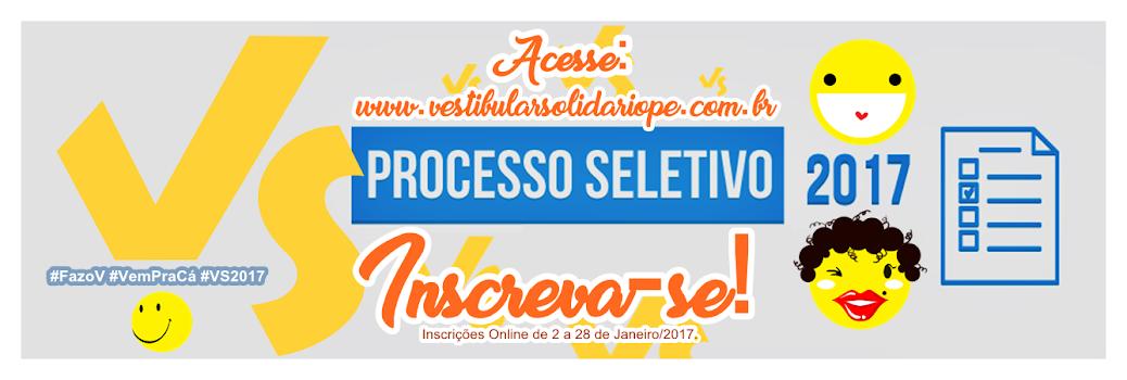 Pré-Acadêmico Vestibular Solidário (VS) | 2016