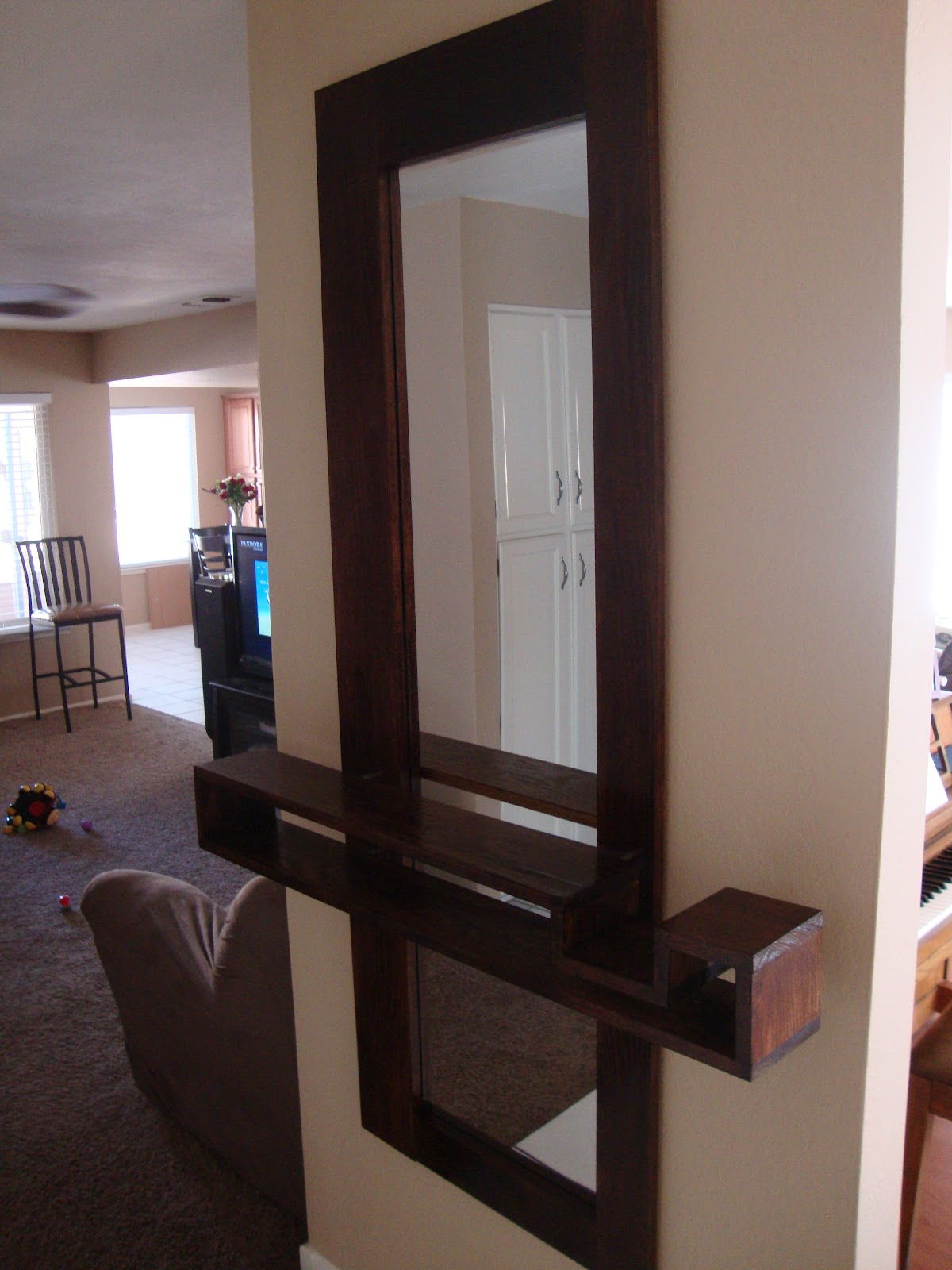 Thinking out loud new entryway mirror with floating shelf for Hallway mirror and shelf