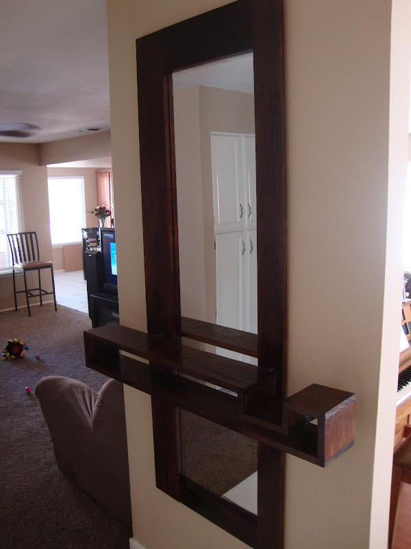 Entryway Mirror with Shelf