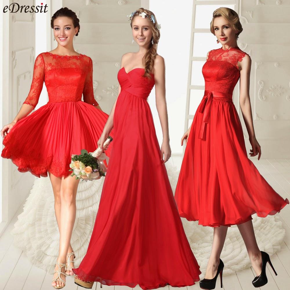 eDressit Fashion Blog: Red Bridesmaid Dresses For Valentine Wedding