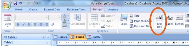 Membuat Form pada Ms Access