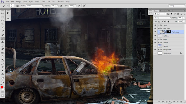 28 Tutorial Photoshop Dramatic Manipulation WAR part 2