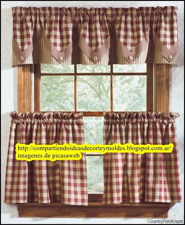 corte y confeccin hermosas ideas para hacer cortinas para la cocina diferenes modelos