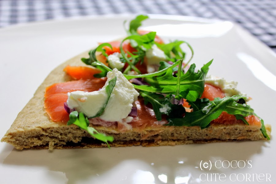 Smoked Salmon and Ricotta Pizza