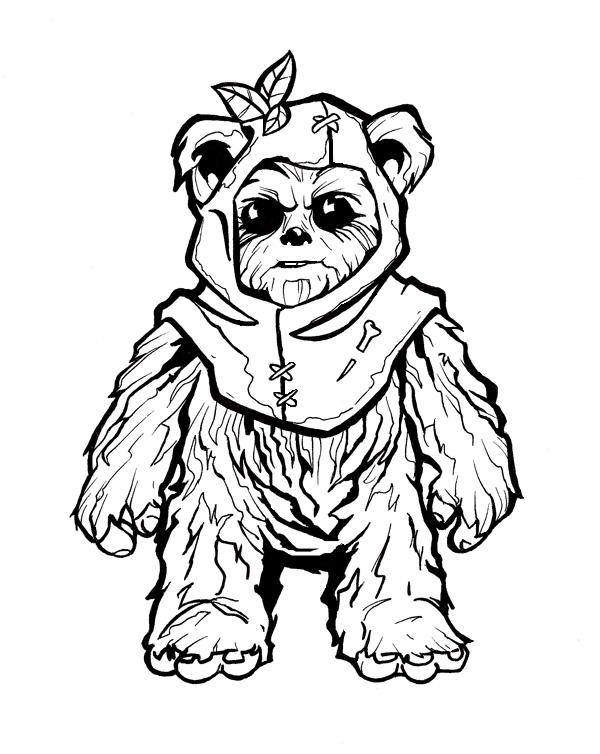 star wars ewok coloring pages - photo#16