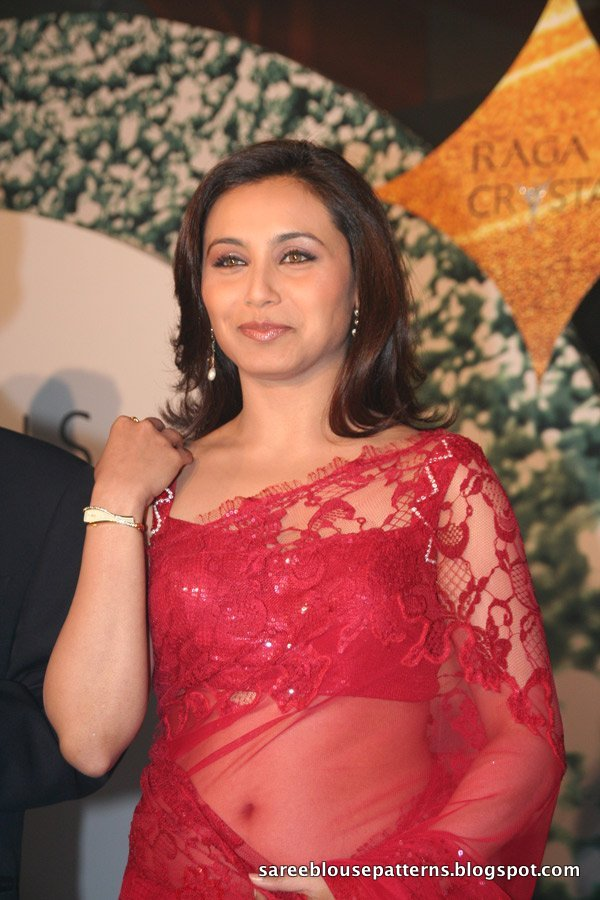Rani mukherjee hot transparent saree