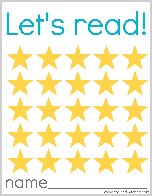 Star Chart Free Printable: the red kitchen: Let7s Read! (Free printable reading charts),Chart