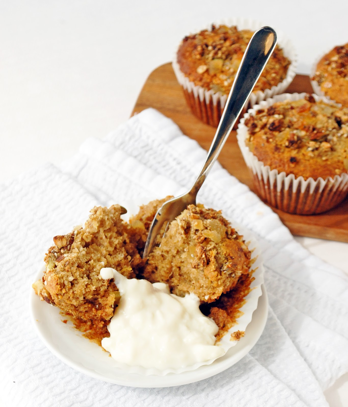 Ginger and mango muffins | including cake