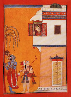 Krishna Serenading a Lady