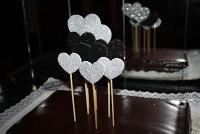 cake toppers corações