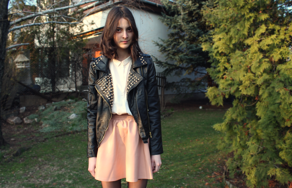 Leather Jacket Here Skirt
