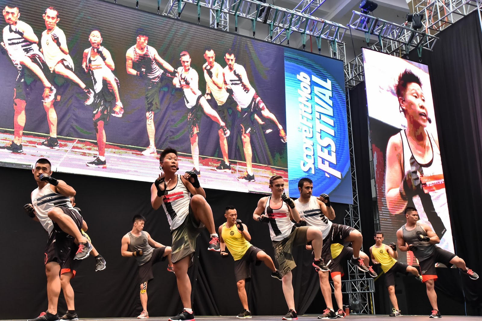 The Two Part SCORE FitMob Festival 2015 Featuring Largest Les Mills BODYCOMBATR Class And Partywas Held In Conjunction With