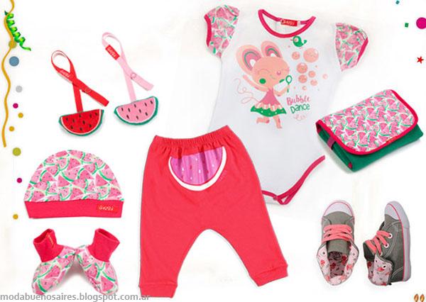 Moda bebes primavera verano 2016 Gulubú ropa Chiquita.
