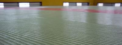 Tatami mats in a Judo hall