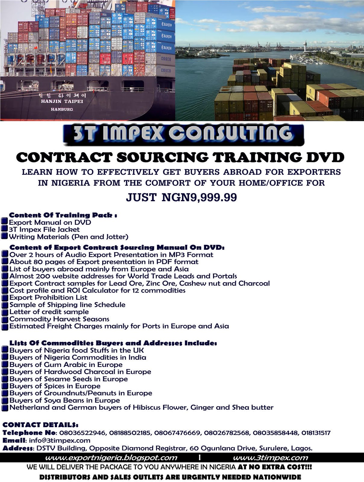 Nigeria Trade Info Portal Export Contract Sourcing Training – Export Contract