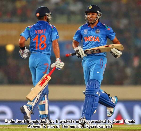 India in semi finals after beating Bangladesh