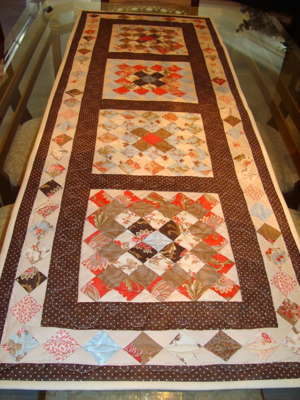 Ana y sus labores de patchwork camino de mesa - Camino mesa patchwork ...