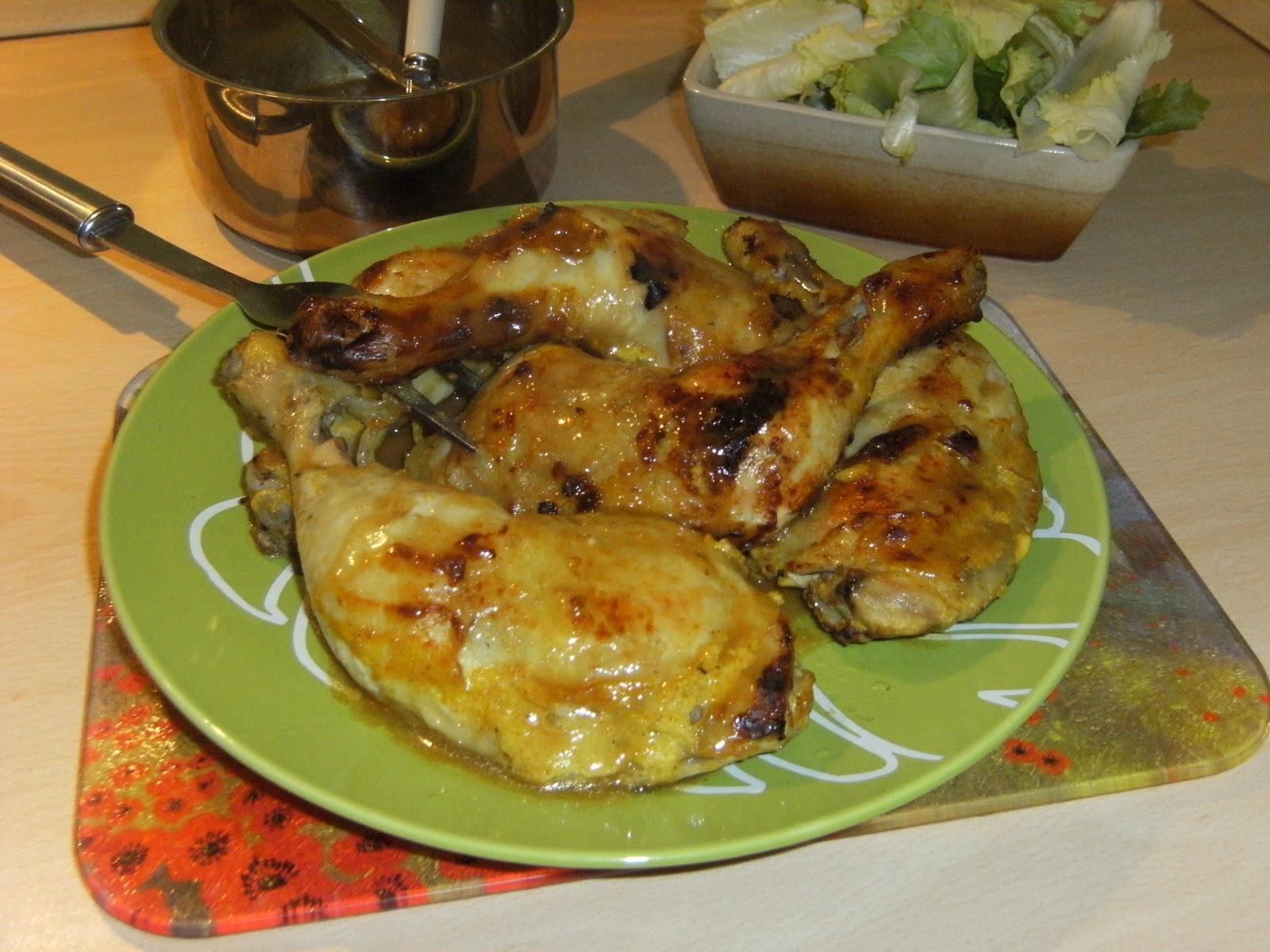 Labonnecuisinedenath cuisses de poulet a la sauce yaourt colombo - Comment cuisiner des cuisses de poulet ...
