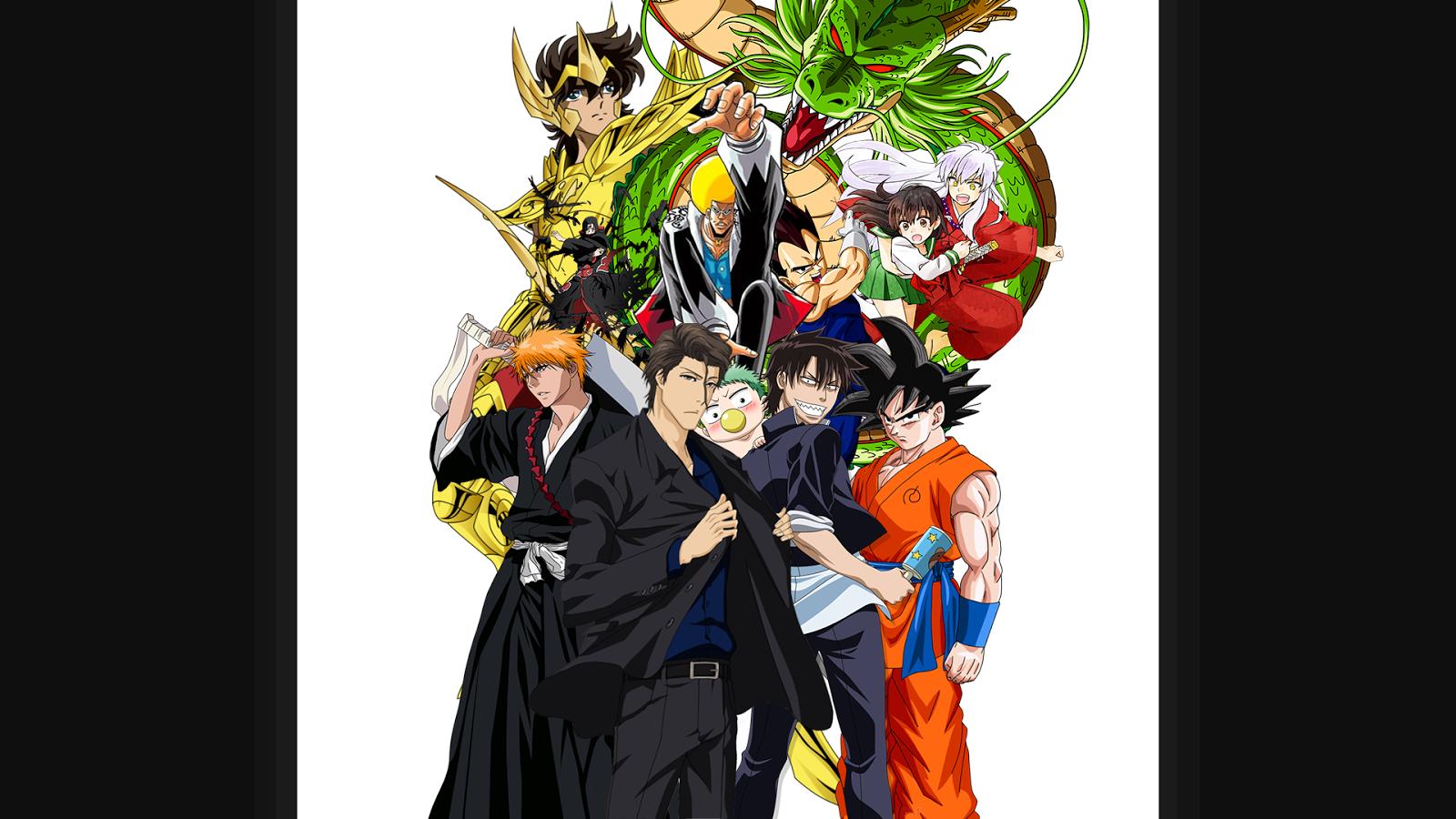Anime Fandom Crossover Wallpaper