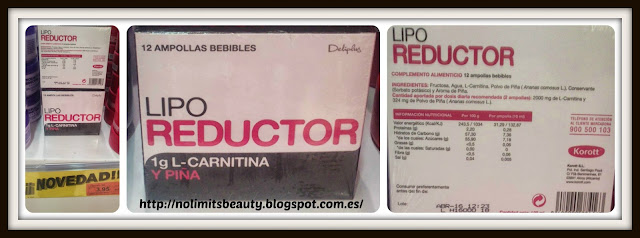 Lipo Reductor: Ampollas bebibles con L-Carnitina y Piña