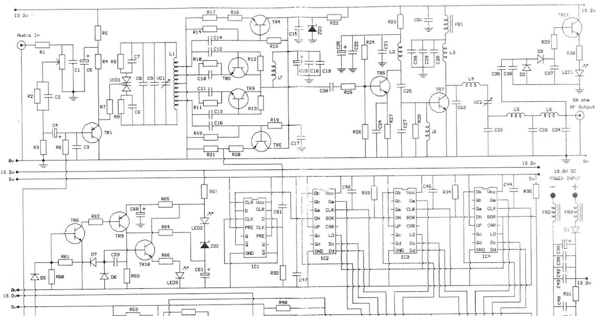 transmitter fm with pll  phase locked loop