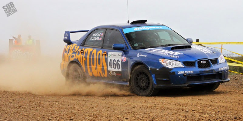 Dirty Drifters' WRX at Oregon Trail Rally