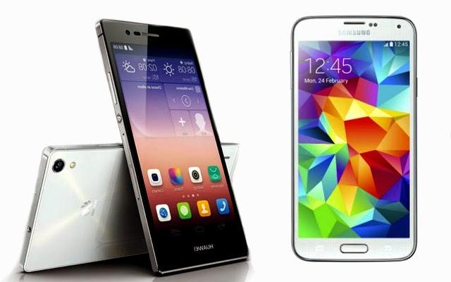 Huawei Ascend P7, Huawei Ascend P7 reseña, nuevo smartphone, Huawei Ascend P7 frente a Samsung Galaxy S5, cámara de alta resolución